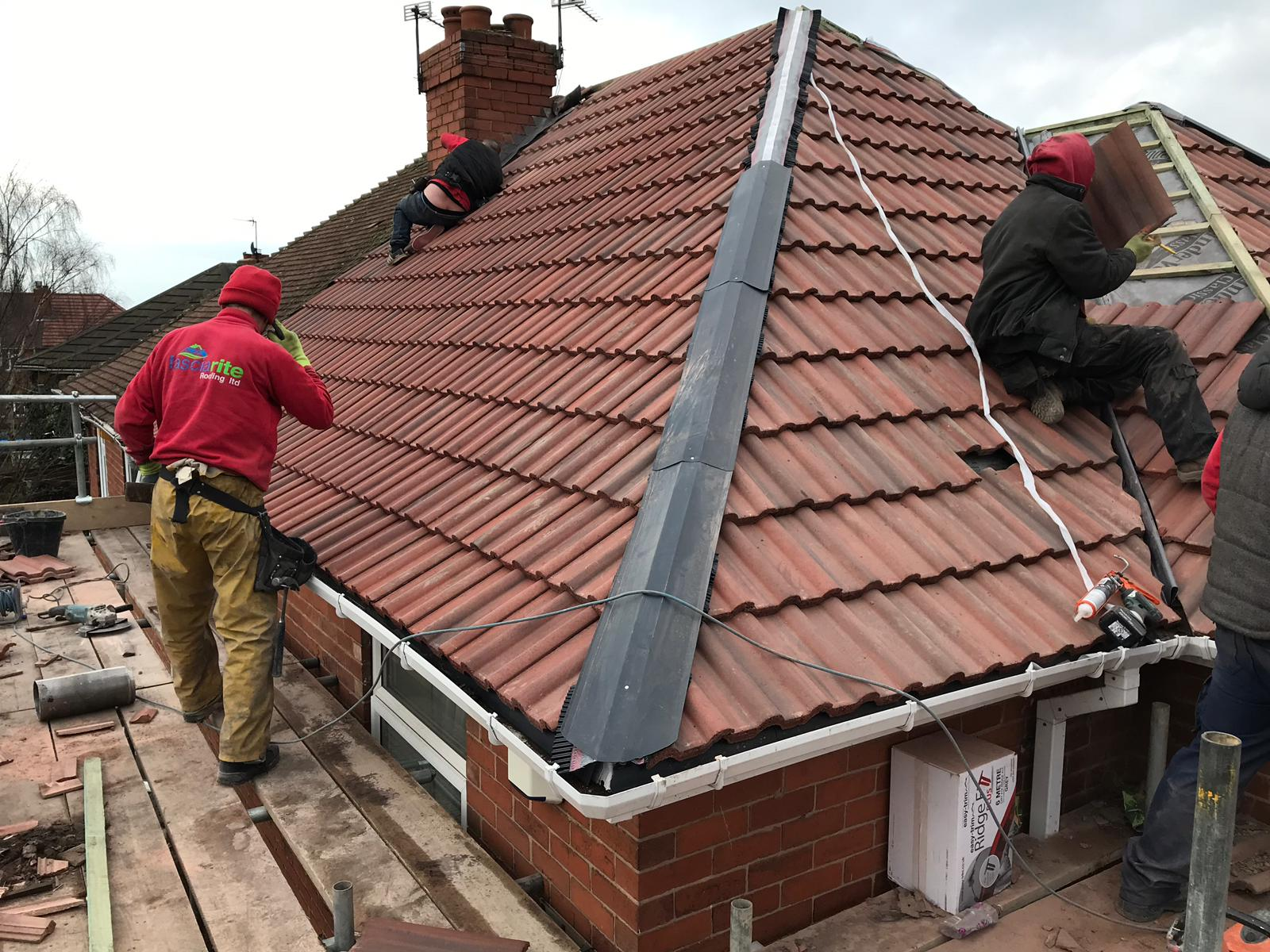 recent slate roofing